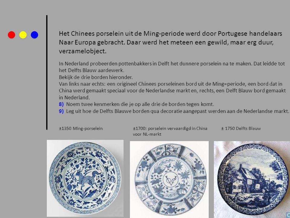 Het Chinees porselein uit de Ming-periode werd door Portugese handelaars Naar Europa gebracht. Daar werd het meteen een gewild, maar erg duur, verzame