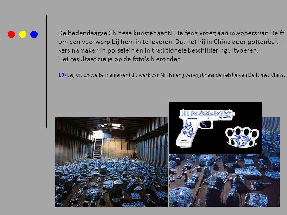 De hedendaagse Chinese kunstenaar Ni Haifeng vroeg aan inwoners van Delft om een voorwerp bij hem in te leveren. Dat liet hij in China door pottenbak-