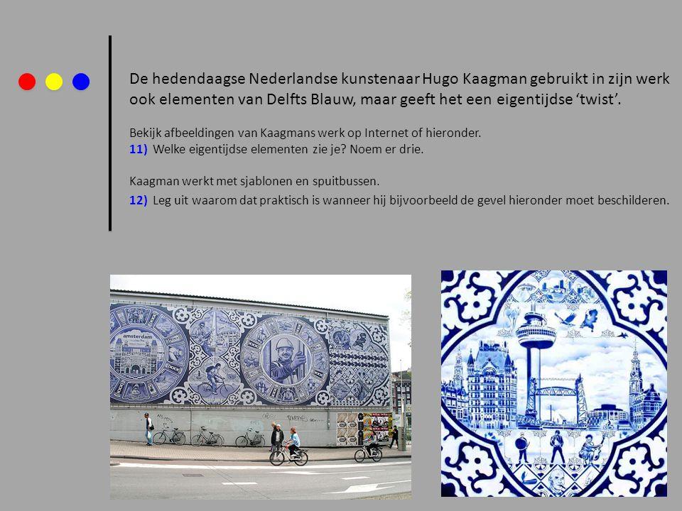 De hedendaagse Nederlandse kunstenaar Hugo Kaagman gebruikt in zijn werk ook elementen van Delfts Blauw, maar geeft het een eigentijdse 'twist'. Bekij
