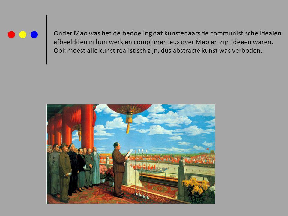 Onder Mao was het de bedoeling dat kunstenaars de communistische idealen afbeeldden in hun werk en complimenteus over Mao en zijn ideeën waren. Ook mo