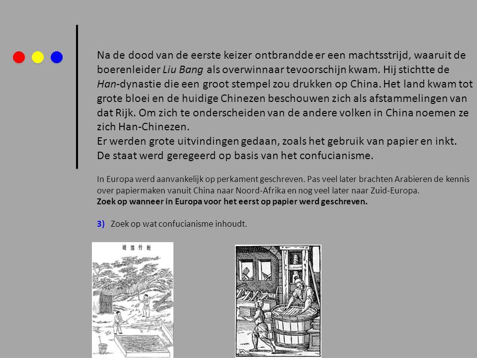 In de Han periode (206 v.Chr.-221 n.Chr.) ontstaat het gebruik van penselen om teksten mee te schrijven.