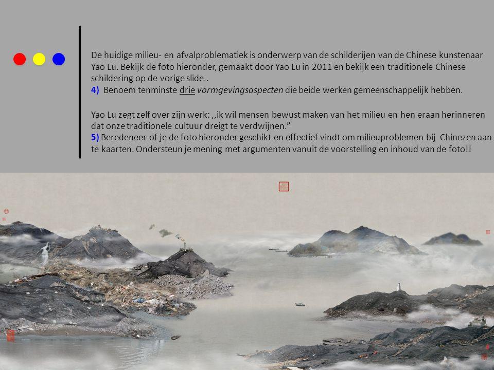 De huidige milieu- en afvalproblematiek is onderwerp van de schilderijen van de Chinese kunstenaar Yao Lu. Bekijk de foto hieronder, gemaakt door Yao