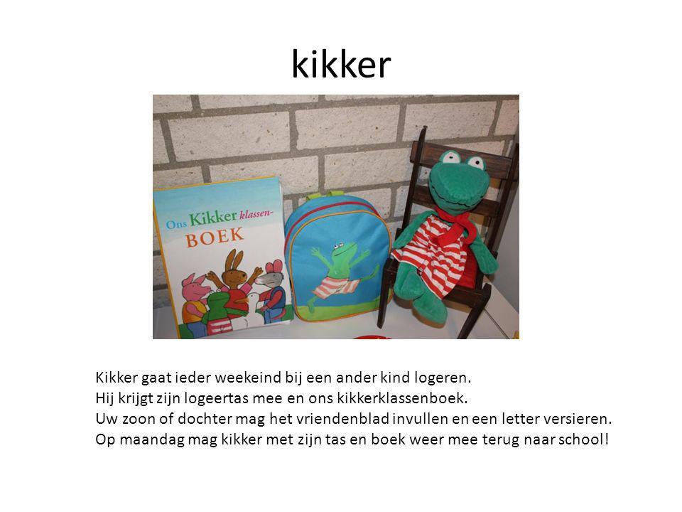 kikker Kikker gaat ieder weekeind bij een ander kind logeren.