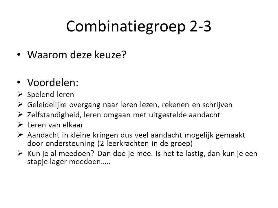 Combinatiegroep 2-3 Waarom deze keuze.