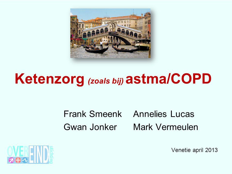 Ketenzorg (zoals bij) astma/COPD Frank SmeenkAnnelies Lucas Gwan Jonker Mark Vermeulen Venetie april 2013