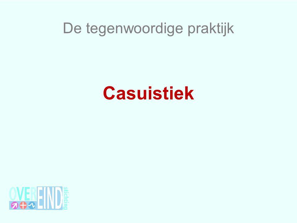 De tegenwoordige praktijk Casuistiek