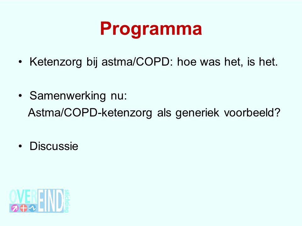 Programma Ketenzorg bij astma/COPD: hoe was het, is het. Samenwerking nu: Astma/COPD-ketenzorg als generiek voorbeeld? Discussie