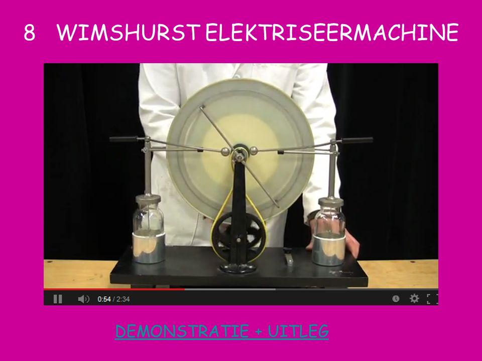 DEMONSTRATIE + UITLEG 8 WIMSHURST ELEKTRISEERMACHINE
