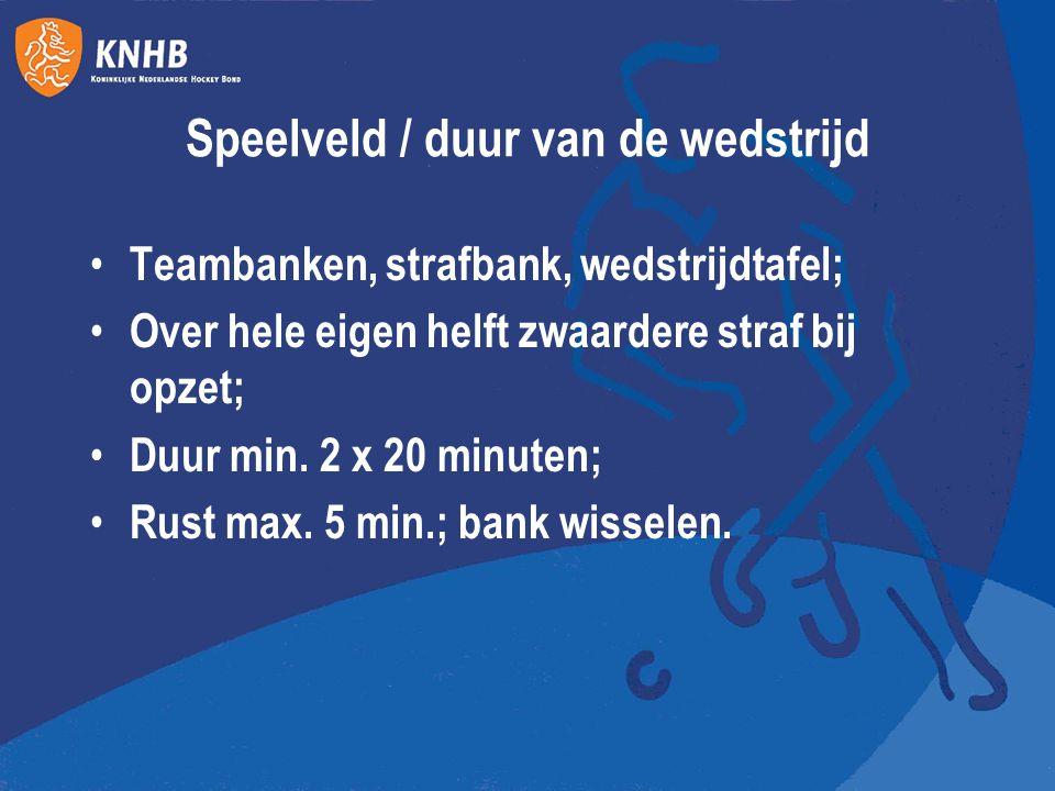 Teams en wissels Begin min.4 en max. 6 spelers; Niet staken bij minder dan 4 in team; Team max.