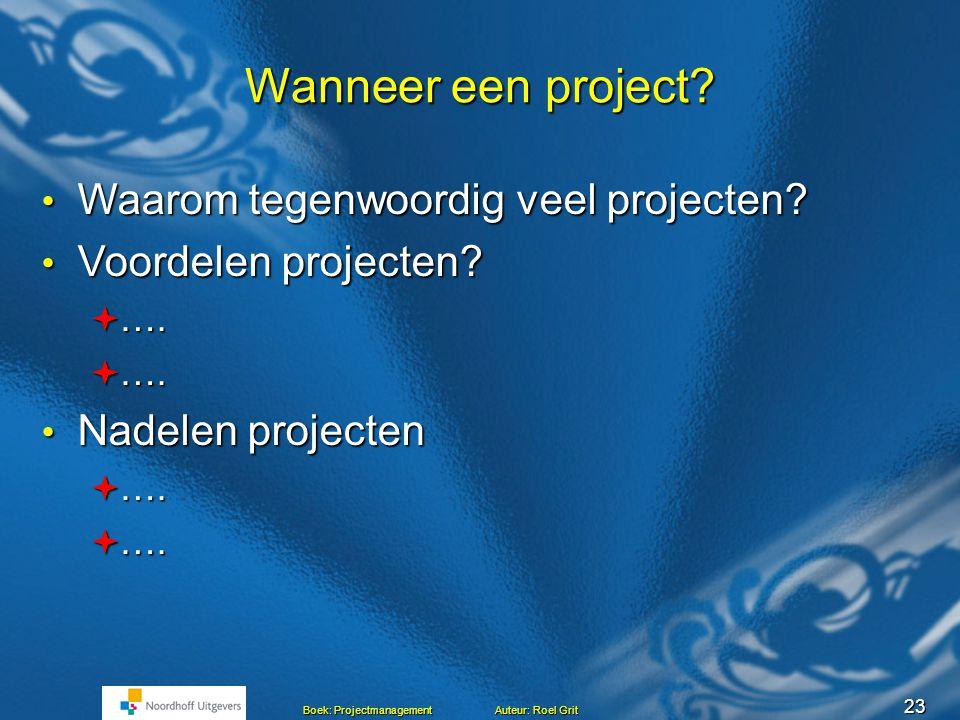 22 Faseren van een project fase: Vraag: Waarom wordt fasering toegepast?