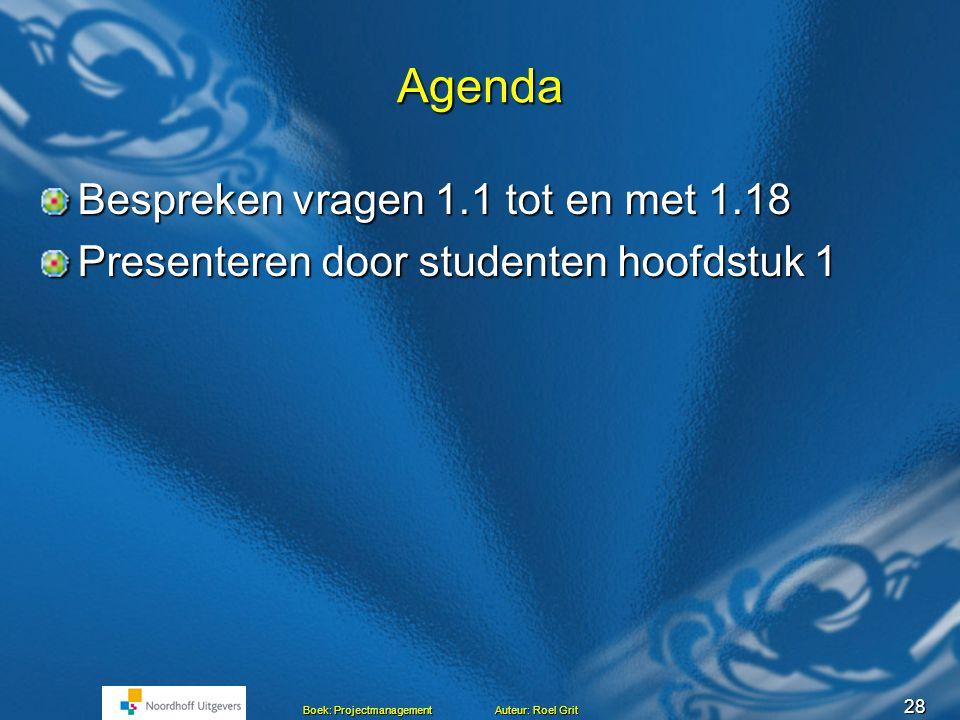 Projectmanagement BLOK C Les 3 Presentaties hoofdstuk 1 Hoofdstuk 1 en 2 Het project Mensen en projecten Mensen en projecten