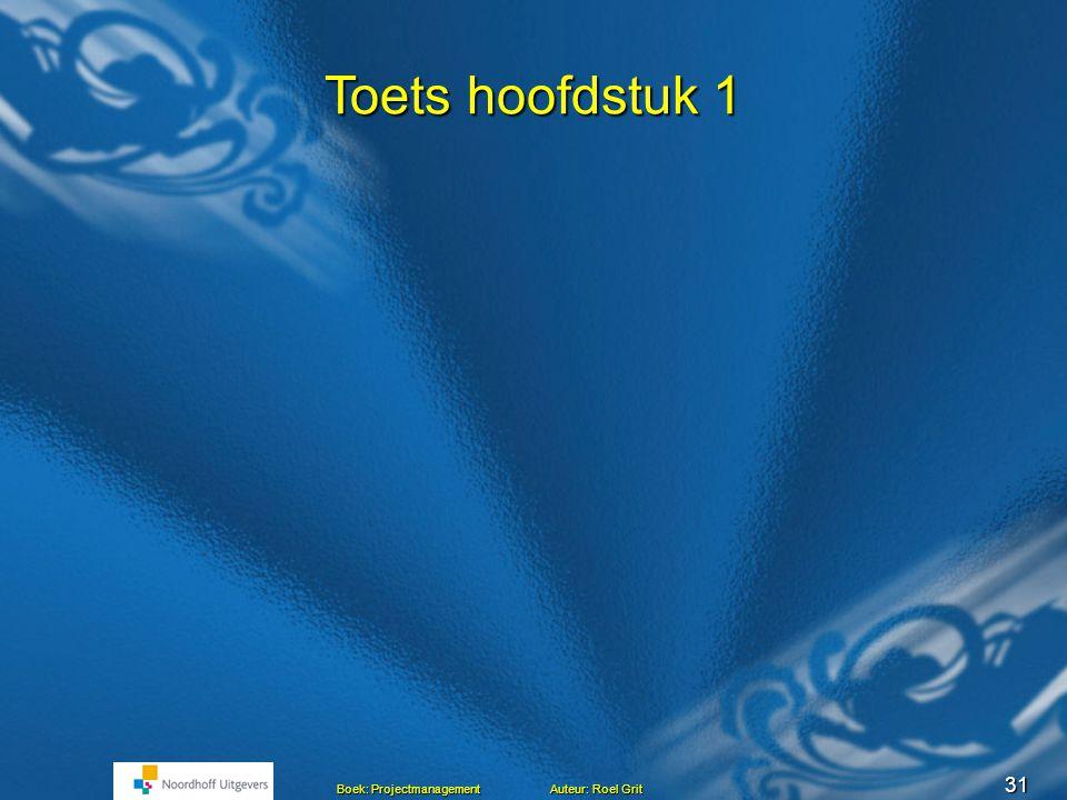 Projectmanagement BLOK C Les 4 TOETS HOOFDSTUK 1 Hoofdstuk 1 en 2 Het project Mensen en projecten Mensen en projecten