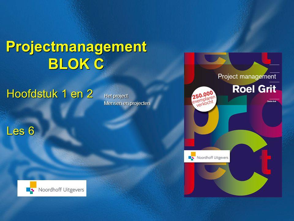 42 Boek: Projectmanagement Auteur: Roel Grit Einde les Huiswerk zie planning