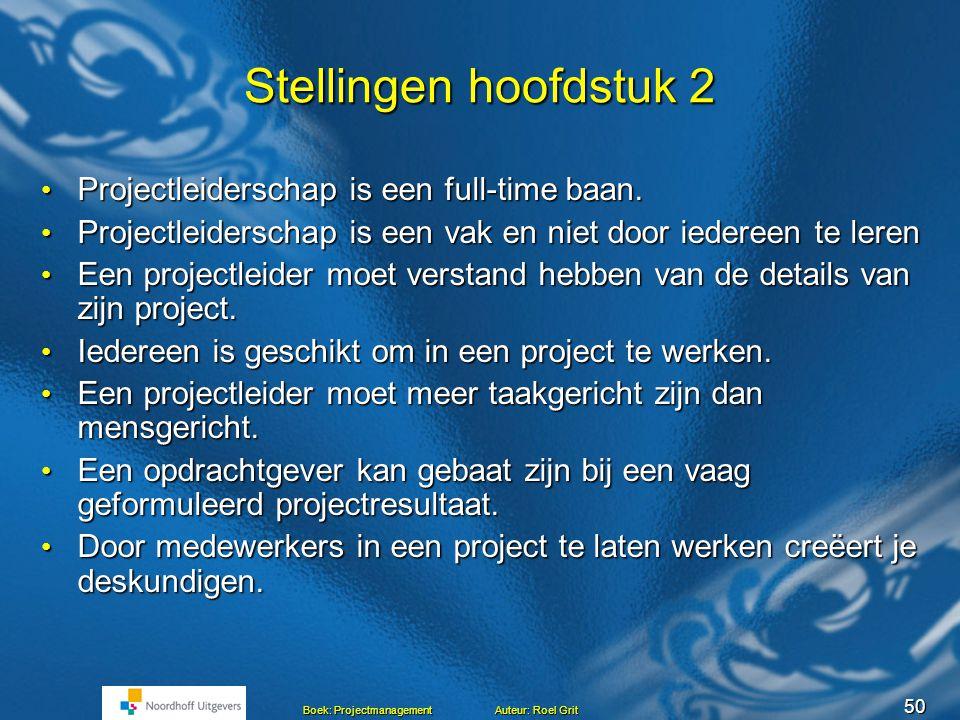 49 Boek: Projectmanagement Auteur: Roel Grit Verantwoordelijkheden Projectleider Onderhandelen met opdrachtgeverOnderhandelen met opdrachtgever Zorgen