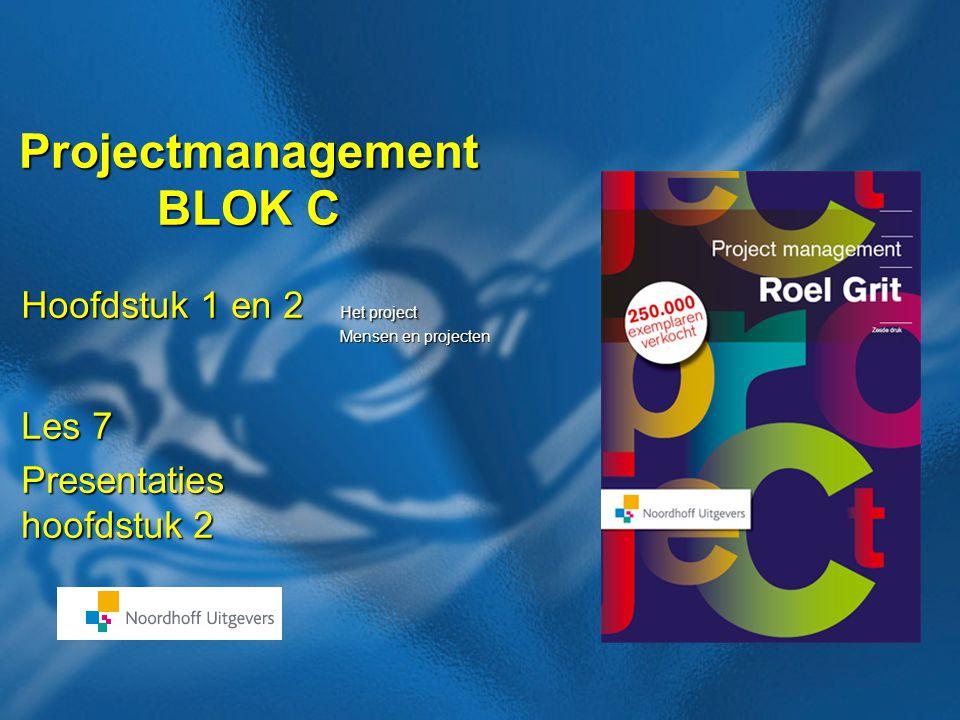 50 Boek: Projectmanagement Auteur: Roel Grit Stellingen hoofdstuk 2 Projectleiderschap is een full-time baan. Projectleiderschap is een full-time baan