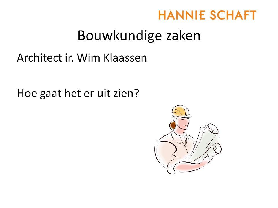 Bouwkundige zaken Architect ir. Wim Klaassen Hoe gaat het er uit zien?