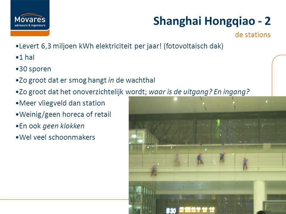Levert 6,3 miljoen kWh elektriciteit per jaar! (fotovoltaisch dak) 1 hal 30 sporen Zo groot dat er smog hangt in de wachthal Zo groot dat het onoverzi