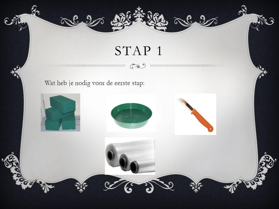 STAP 1 Wat heb je nodig voor de eerste stap: