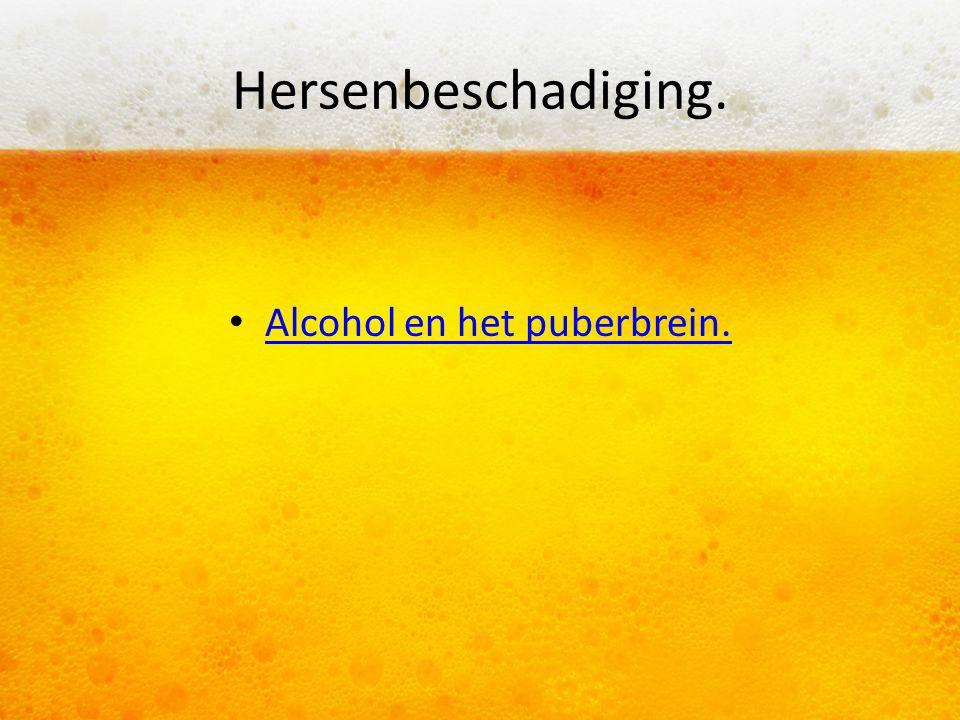 Hersenbeschadiging. Alcohol en het puberbrein.