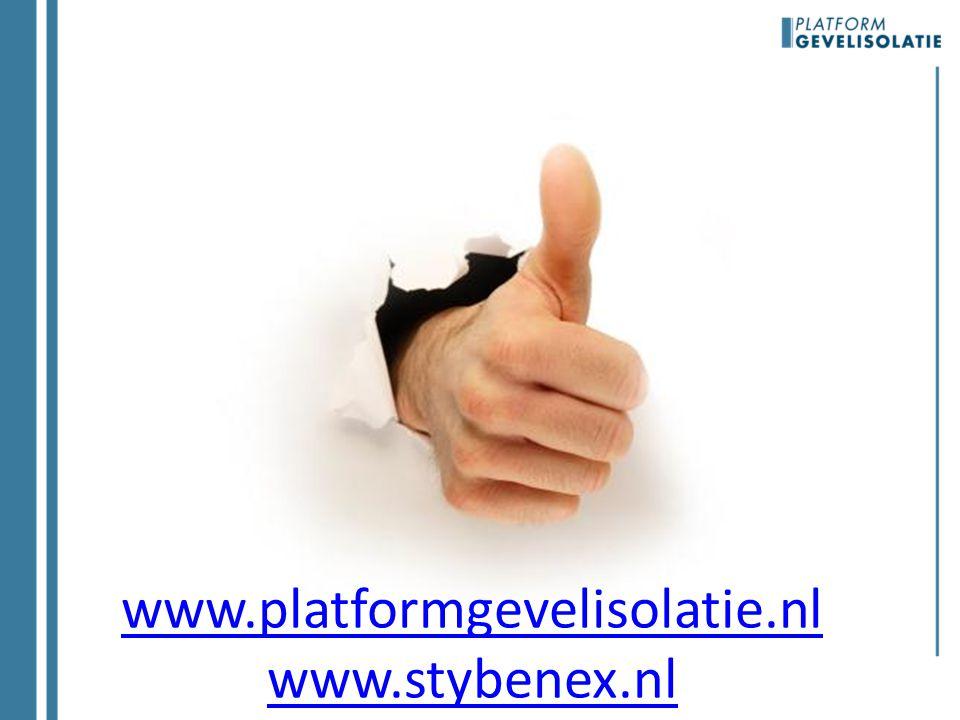 www.platformgevelisolatie.nl www.stybenex.nl