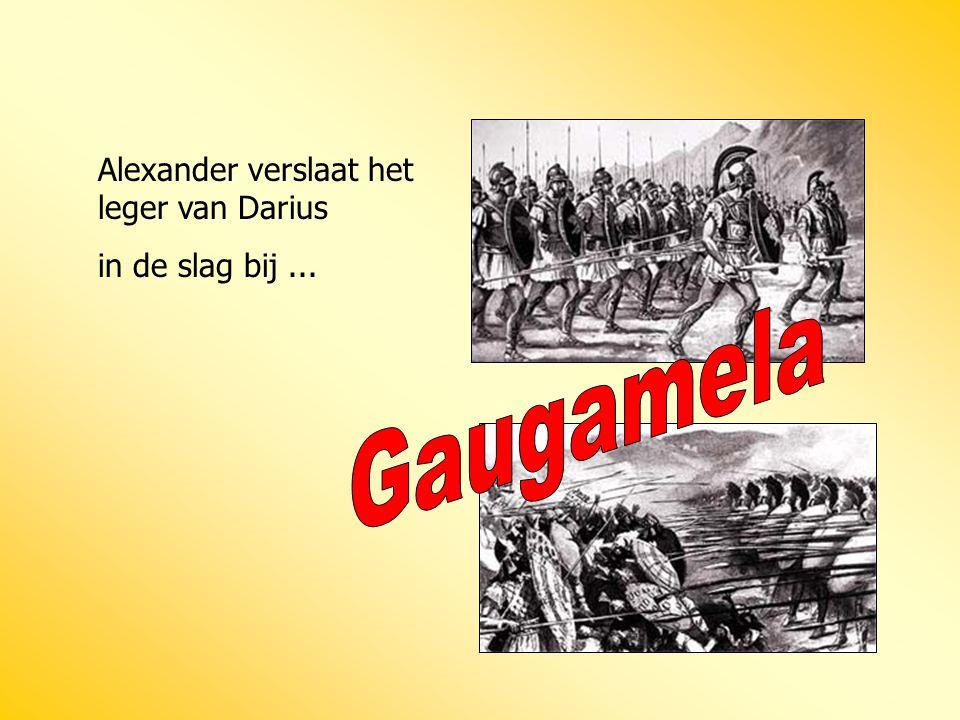 Alexander verslaat het leger van Darius in de slag bij...
