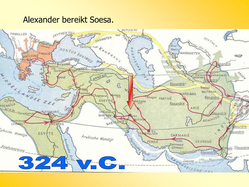 Alexander bereikt Soesa.