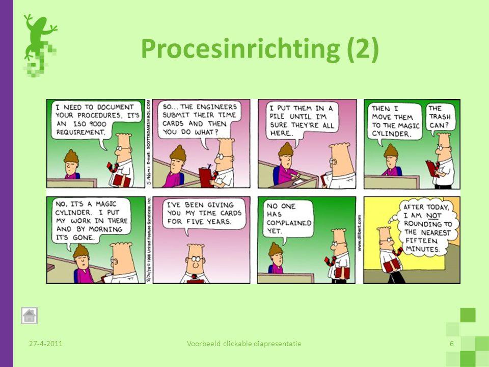 Productontwikkeling (1) RFC portal 'Survey as a Service' Helpdesk pakket 27-4-2011Voorbeeld clickable diapresentatie7