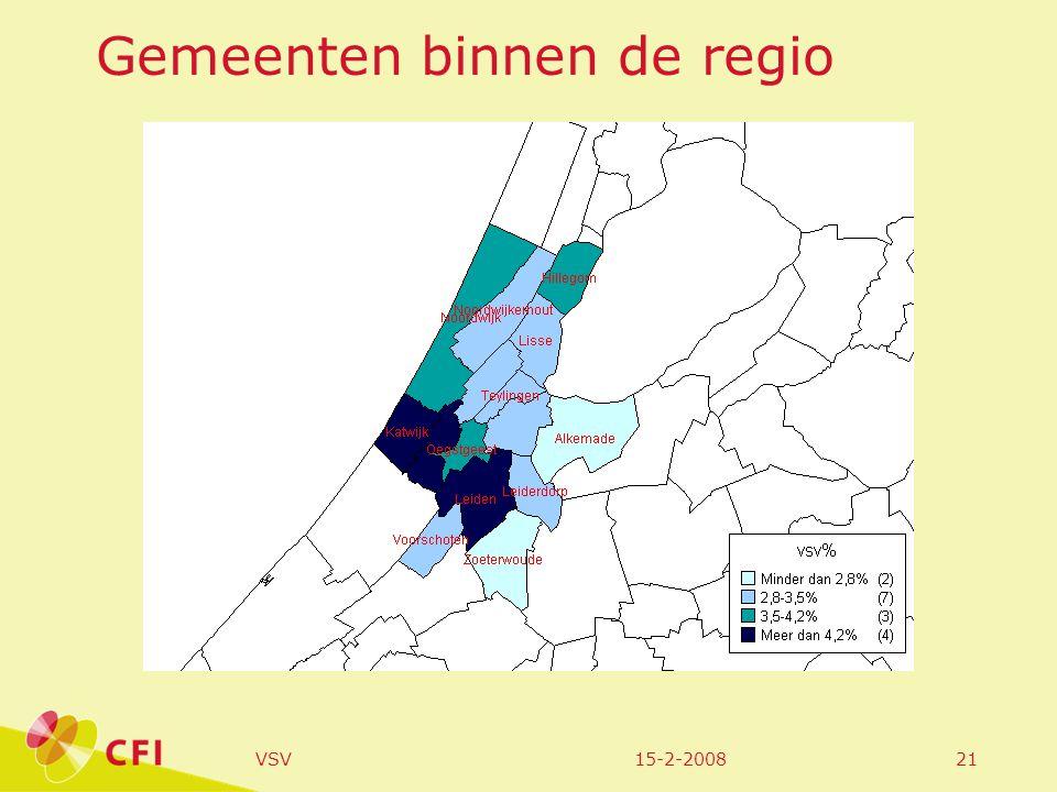 15-2-2008VSV21 Gemeenten binnen de regio