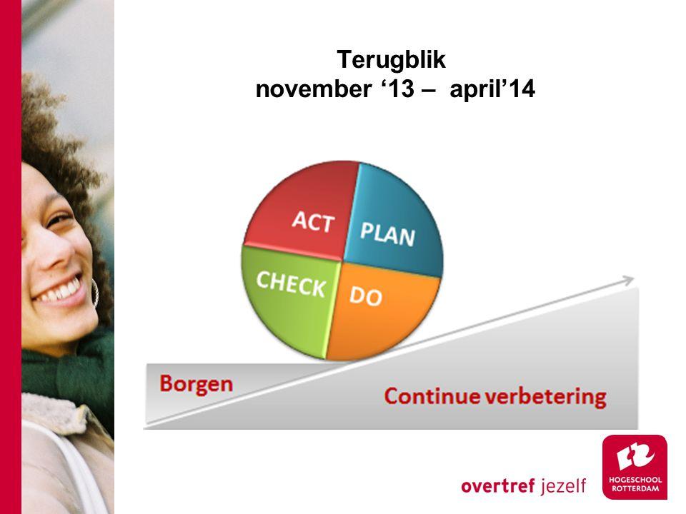 Terugblik november '13 – april'14