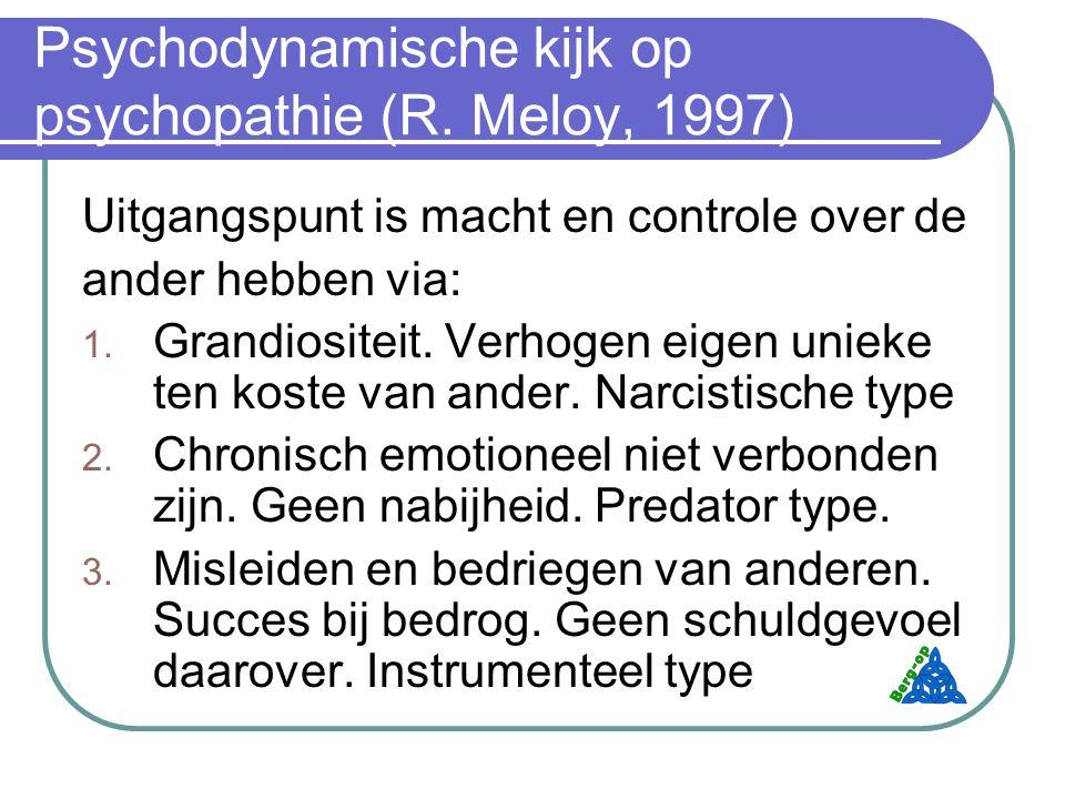 Psychodynamische kijk op psychopathie (R.