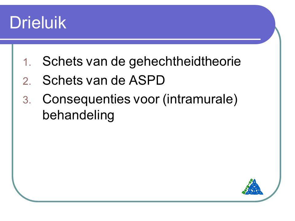Drieluik 1.Schets van de gehechtheidtheorie 2. Schets van de ASPD 3.