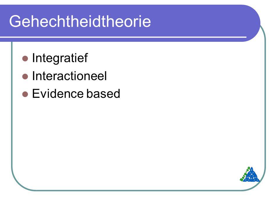 Gehechtheidtheorie Integratief Interactioneel Evidence based
