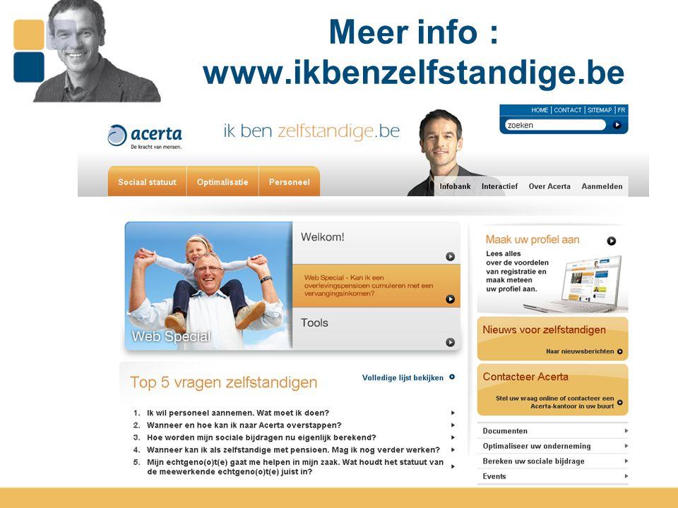 14 Meer info : www.ikbenzelfstandige.be