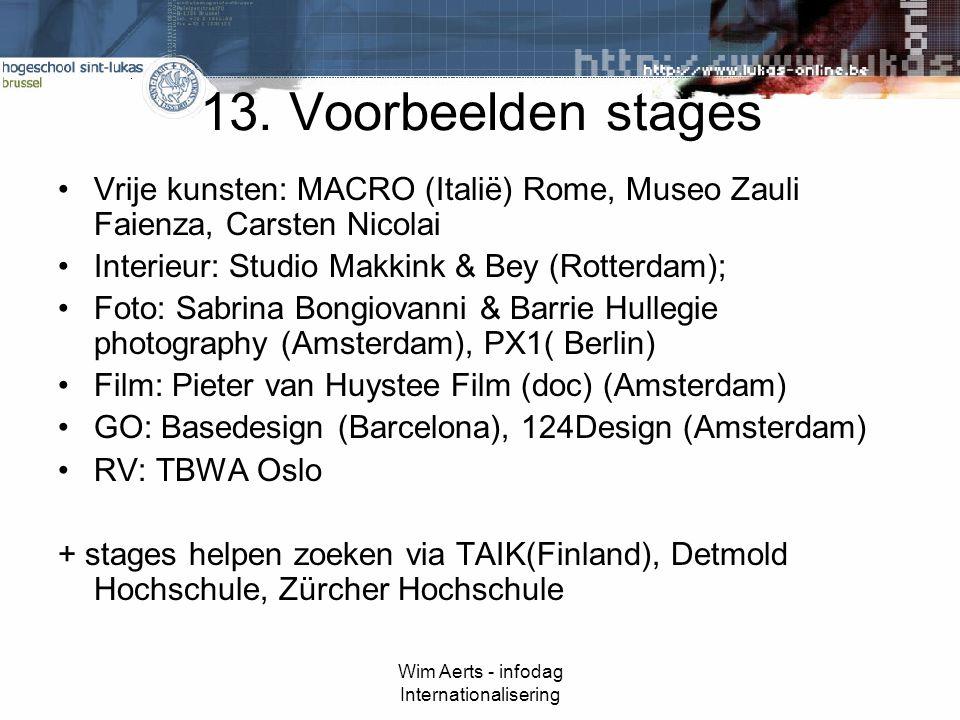 Wim Aerts - infodag Internationalisering 13.