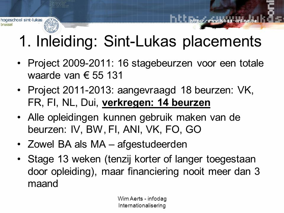 Wim Aerts - infodag Internationalisering 1.