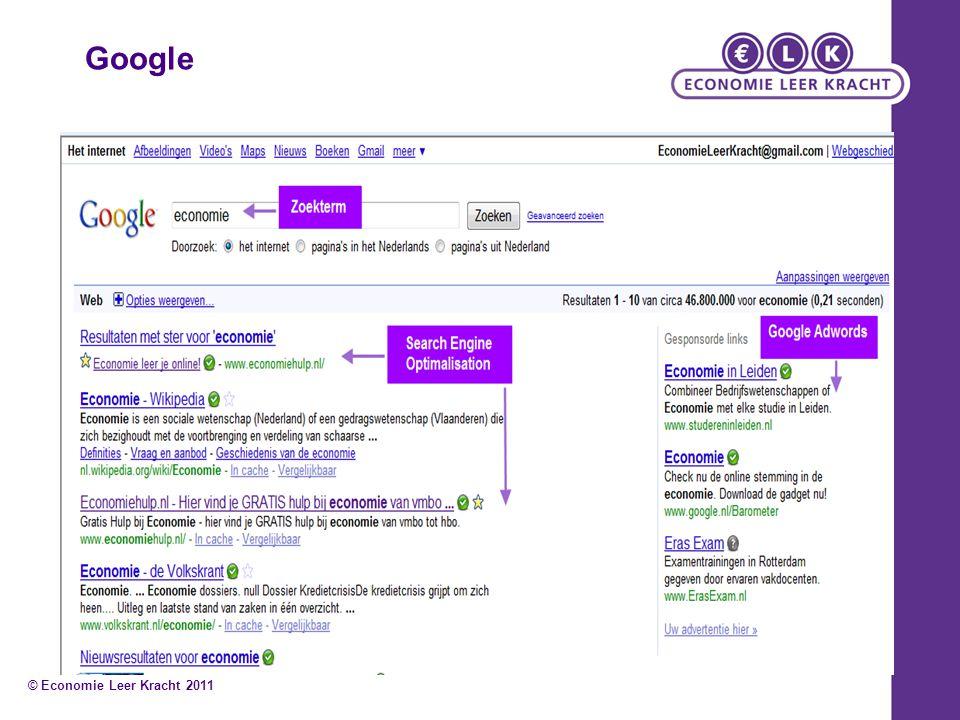 Google © Economie Leer Kracht 2011