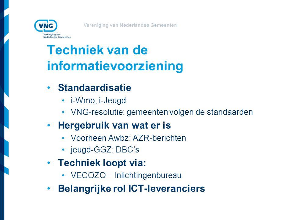 Vereniging van Nederlandse Gemeenten Techniek van de informatievoorziening Standaardisatie i-Wmo, i-Jeugd VNG-resolutie: gemeenten volgen de standaard
