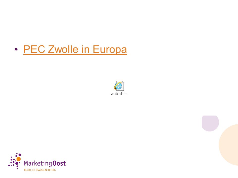 PEC Zwolle in Europa