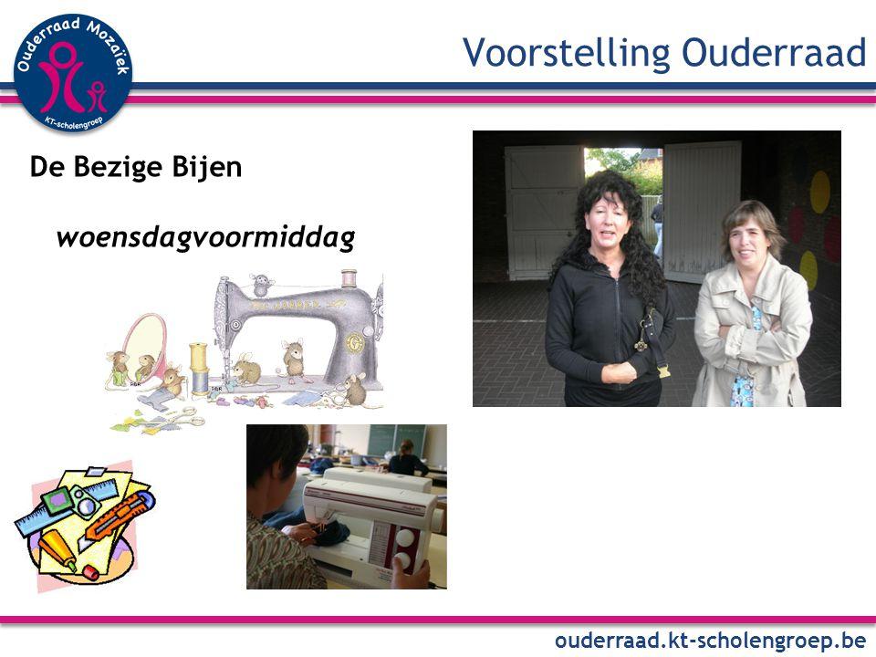 Voorstelling Ouderraad ouderraad.kt-scholengroep.be De Bezige Bijen woensdagvoormiddag