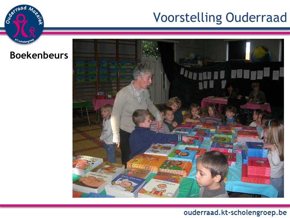 Voorstelling Ouderraad ouderraad.kt-scholengroep.be Boekenbeurs
