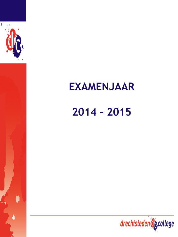 EXAMENJAAR 2014 - 2015
