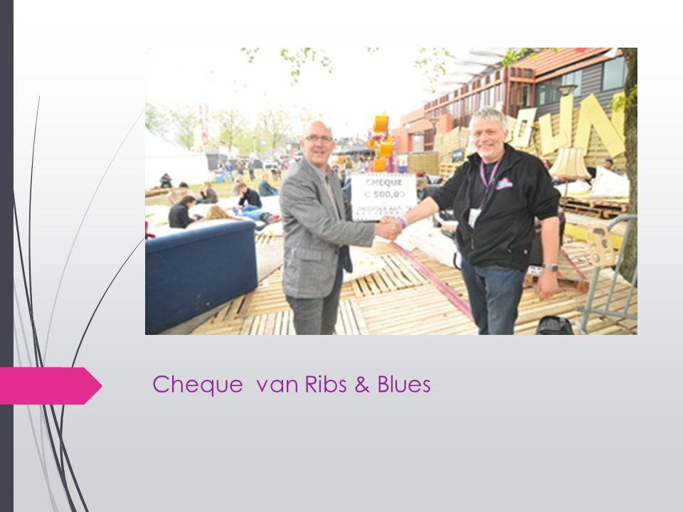 Cheque van Ribs & Blues