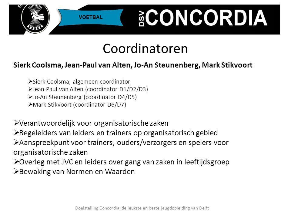 Sierk Coolsma, Jean-Paul van Alten, Jo-An Steunenberg, Mark Stikvoort  Sierk Coolsma, algemeen coordinator  Jean-Paul van Alten (coordinator D1/D2/D