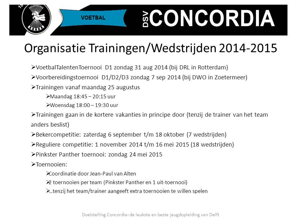  VoetbalTalentenToernooi D1 zondag 31 aug 2014 (bij DRL in Rotterdam)  Voorbereidingstoernooi D1/D2/D3 zondag 7 sep 2014 (bij DWO in Zoetermeer)  T