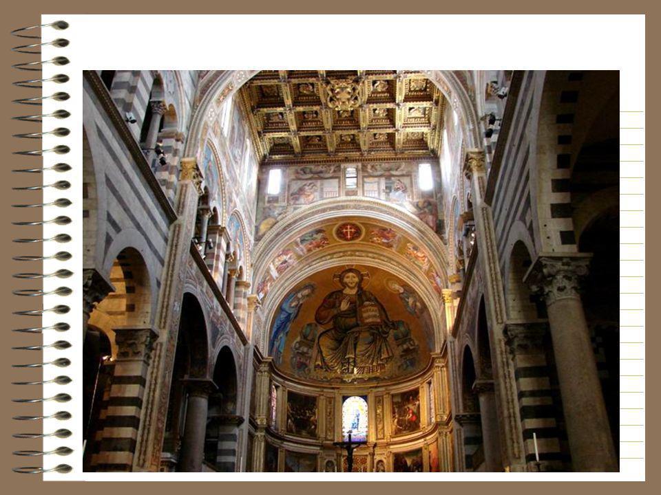 Mozaïek van Christus die troont tussen de Maagd en de H. Johannes, gerealiseerd met de medewerking van Cimabue in 1302.