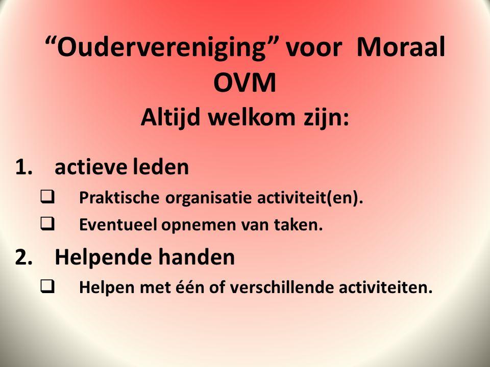 1.actieve leden  Praktische organisatie activiteit(en).