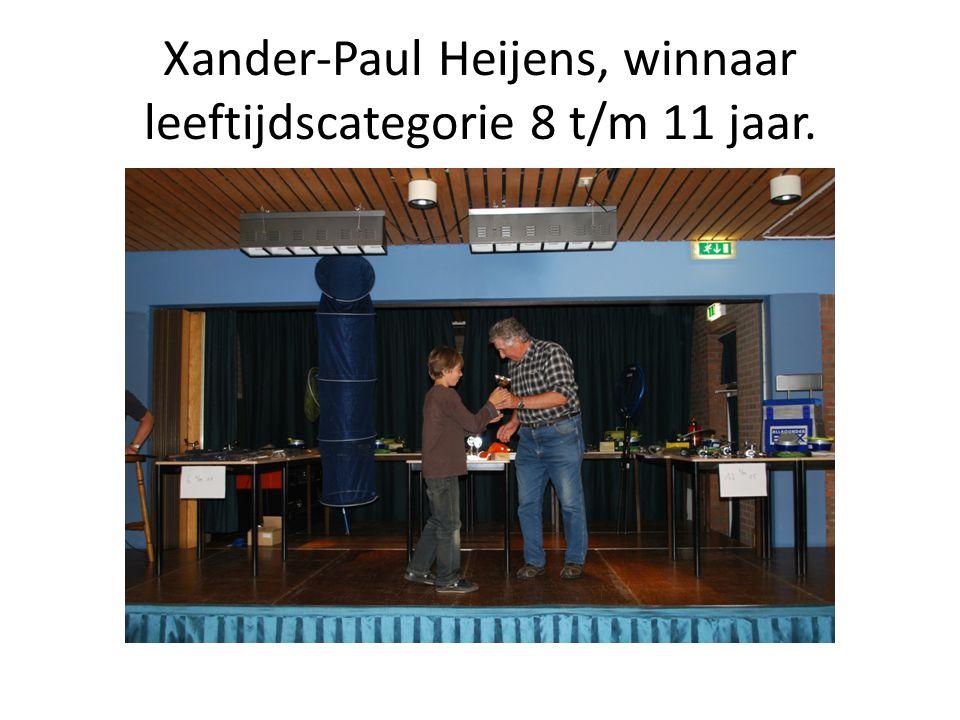 Xander-Paul Heijens, winnaar leeftijdscategorie 8 t/m 11 jaar.