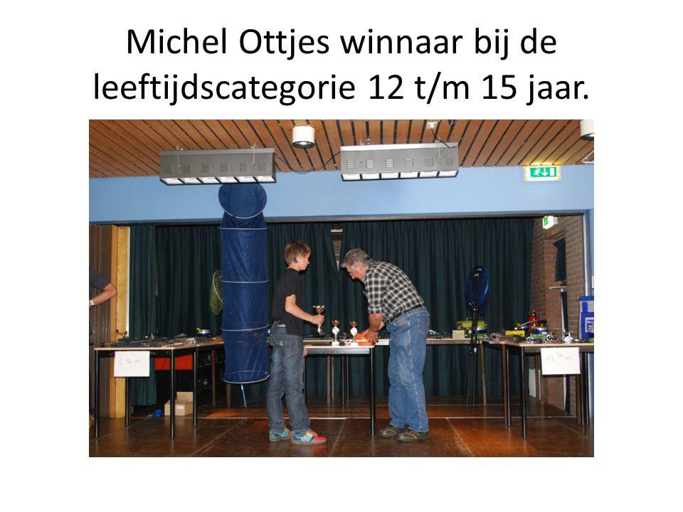 Michel Ottjes winnaar bij de leeftijdscategorie 12 t/m 15 jaar.