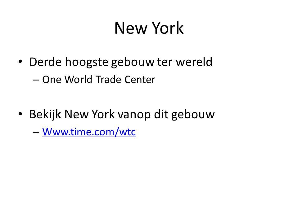 New York Derde hoogste gebouw ter wereld – One World Trade Center Bekijk New York vanop dit gebouw – Www.time.com/wtc Www.time.com/wtc