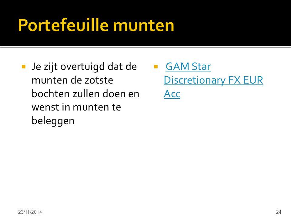  Je zijt overtuigd dat de munten de zotste bochten zullen doen en wenst in munten te beleggen  GAM Star Discretionary FX EUR AccGAM Star Discretiona